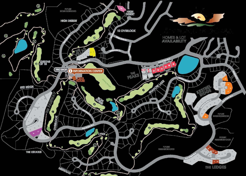 Redlands Mesa Plat Map